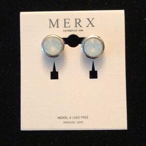 Merx White Studs